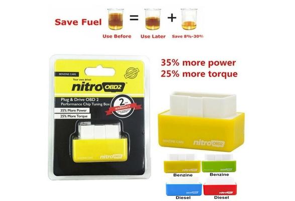NitroOBD2 Chip Tuning Box For Benzine or Diesel Cars Torque Plug /& Drive Car ECU
