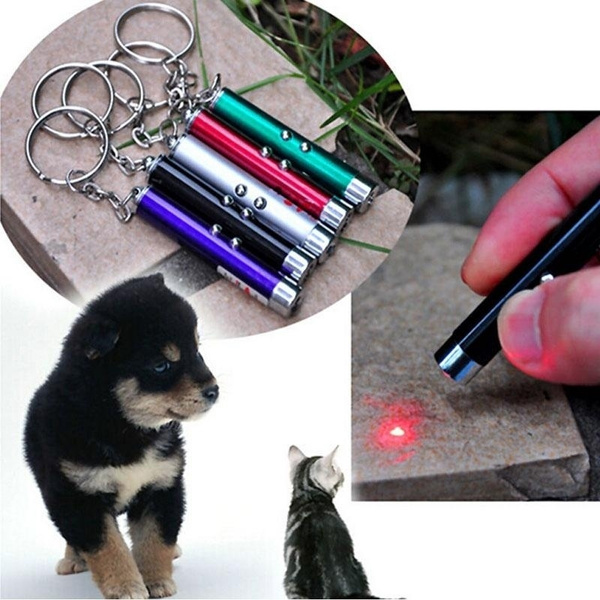 Money Checker Cat Pet Toy Beam LED Torch 5 Patterns 3-in-1 Laser Pointer Pen