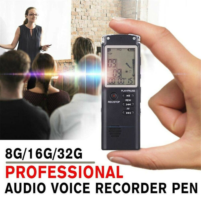 8G/16G/32G Voice Activated Mini Spy Digital Sound Audio Recorder Dictaphone MP3 Player