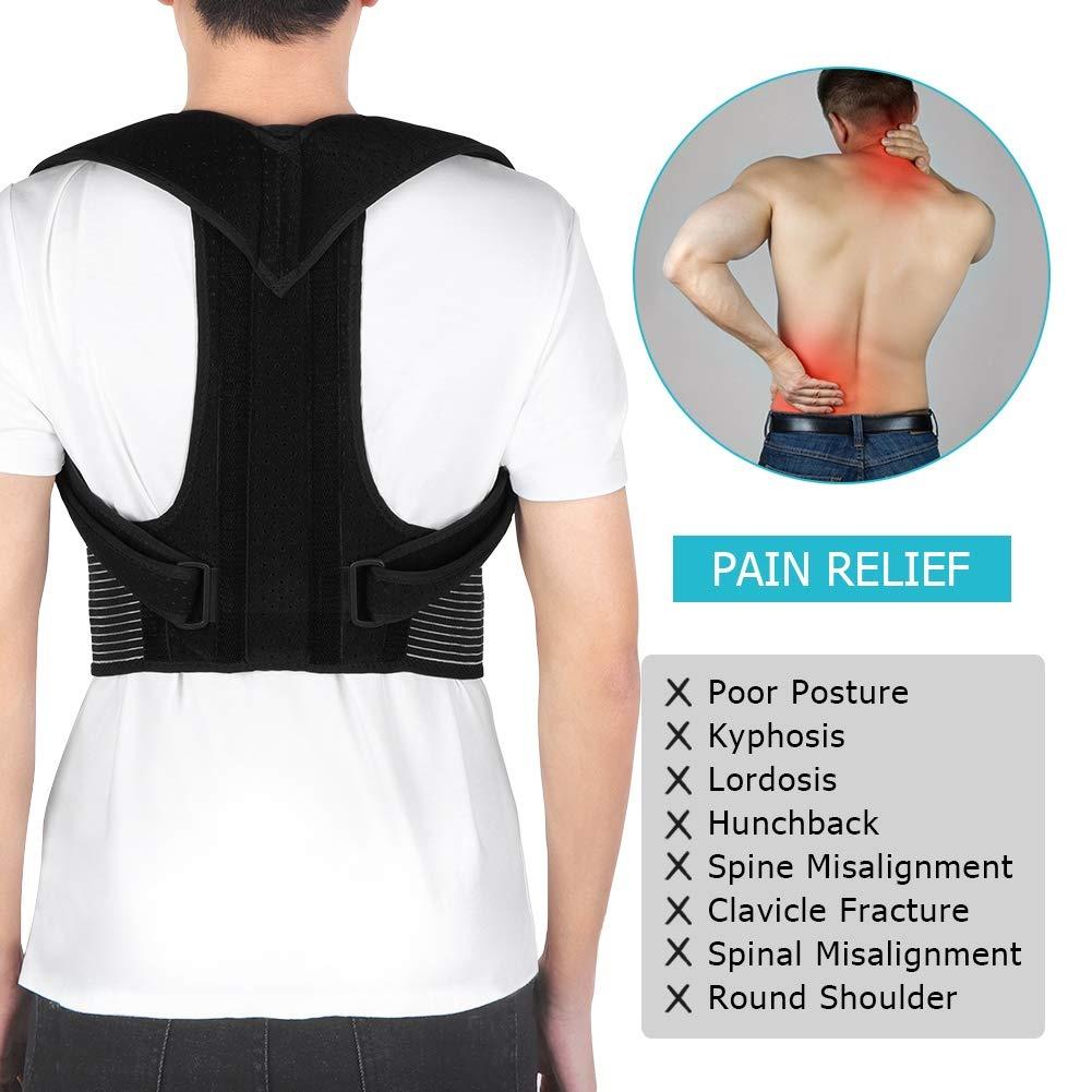 Back Brace Posture Corrector Adjustable Back Shoulder Lumbar Waist Support Belt for Men and Women, Improve Posture, Prevent Slouching, Pain Relief