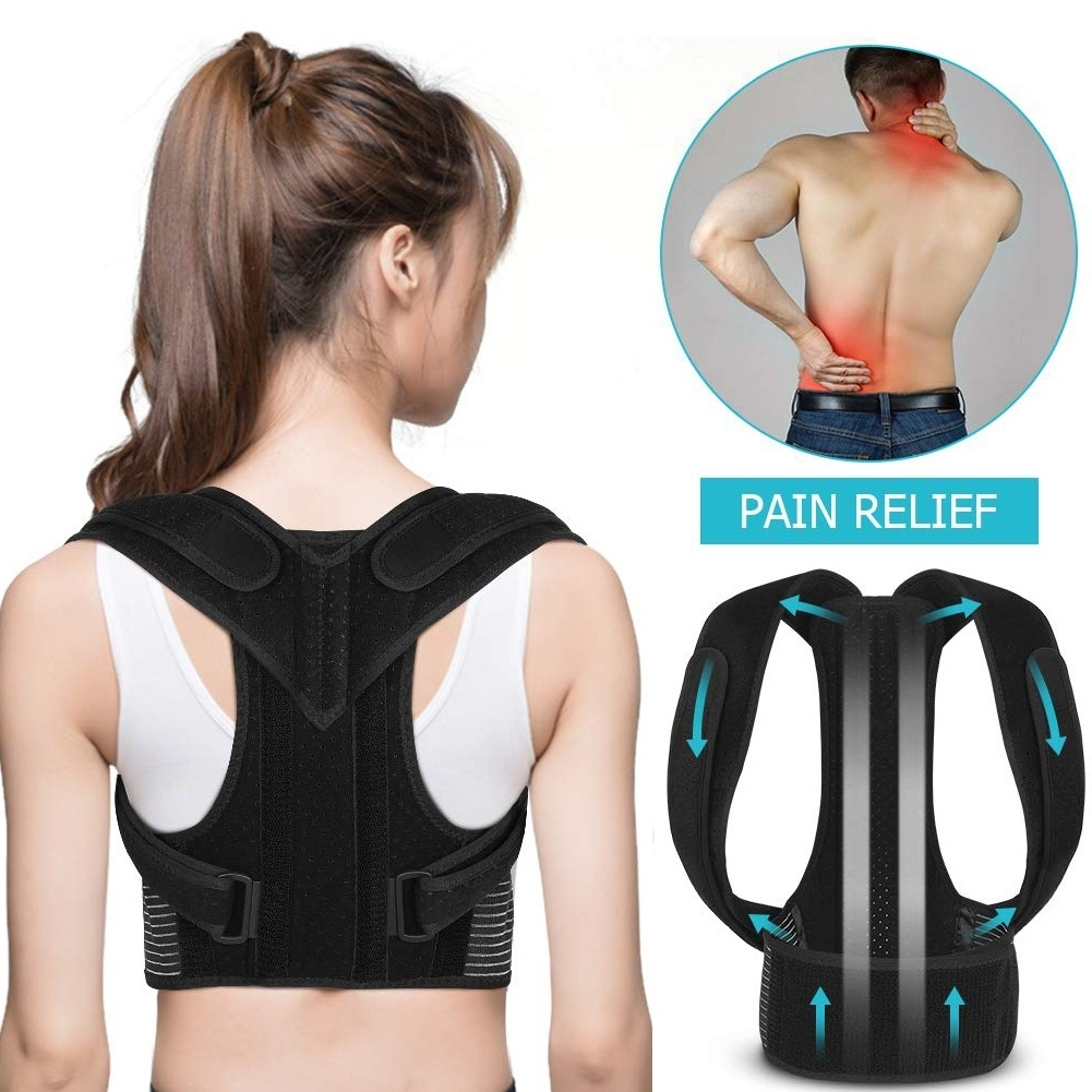Back Posture Corrector for Men Women,  Adjustable Shoulder Straps and Lumbar Belts , Improve Posture, Prevent Slouching and Relieve Back Pain