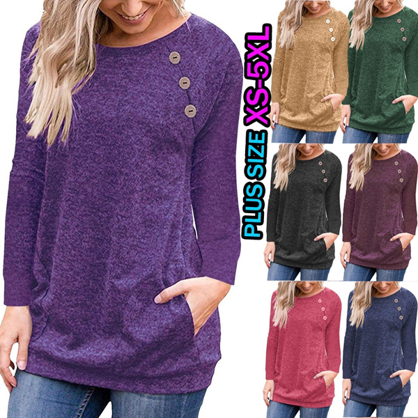 Plus Size, Cotton T Shirt, long sleeved shirt, Long Sleeve