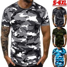Men T-shirt, Plus Size, printed, Sleeve