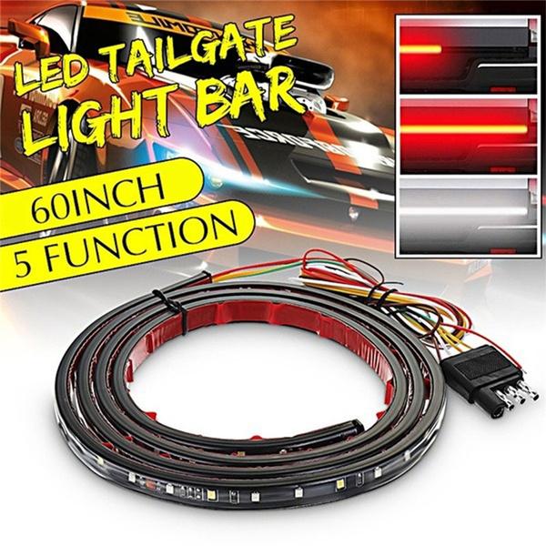"60/"" Waterproof Tailgate LED Strip Bar Truck Reverse Brake Turn Signal Tail Light"