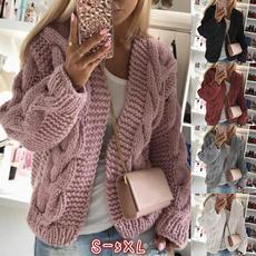 Fashion, sweater coat, Long Sleeve, Slim Fit
