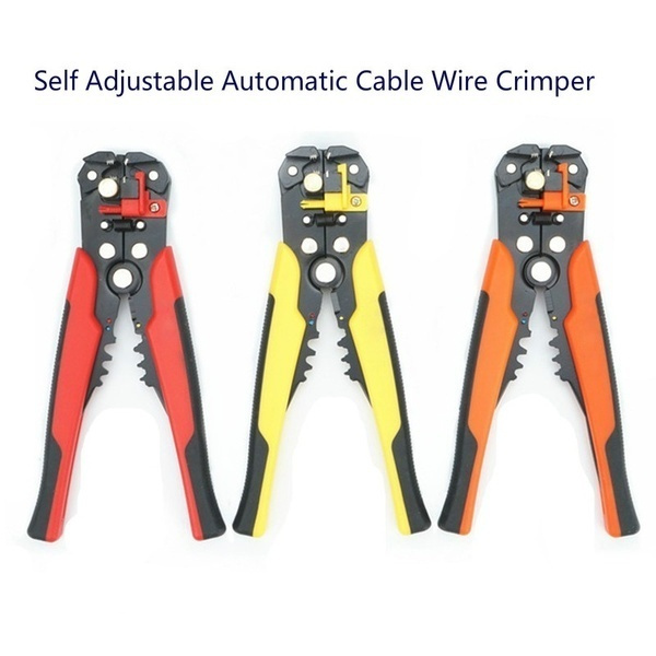 Automatic Cable Wire Crimper Tool Stripper Adjustable Plier Cutter Amtech B4285