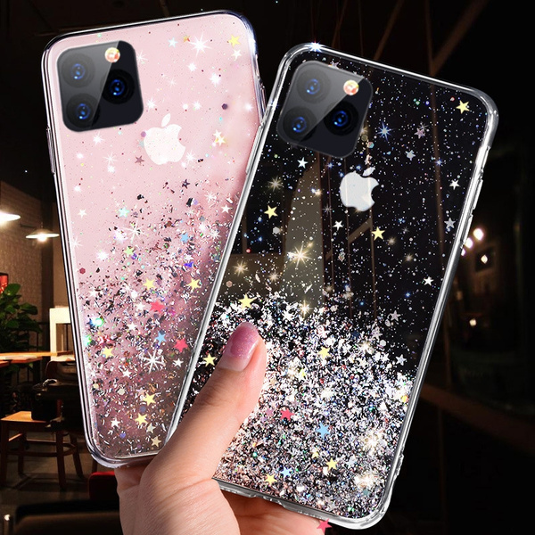 For IPhone 11 / 11Pro/ 11 Pro Max Luxury Lovely Glitter Sparkle Girl Women  Cute Clear TPU Protective Case Cover