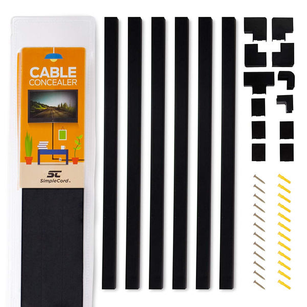 Cable Cord Cover Concealer Kit Wire Management Wall Organizer Raceway Hide Kit..