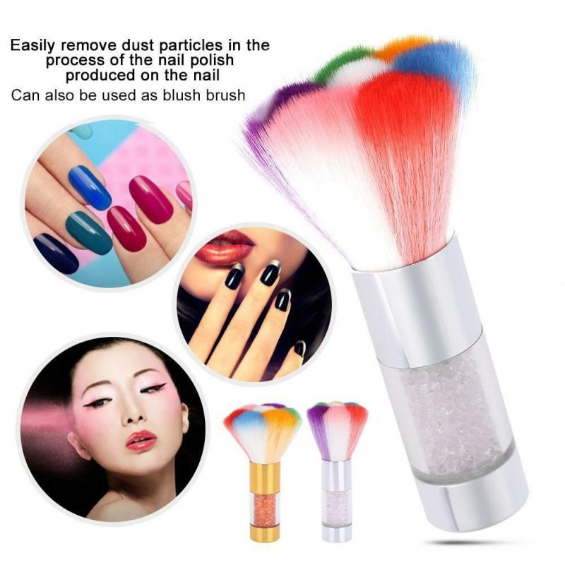 Nail Art Glitter Brush Acrylic Makeup Brush Dust Clean UV Gel Powder Remover Manicure Tool