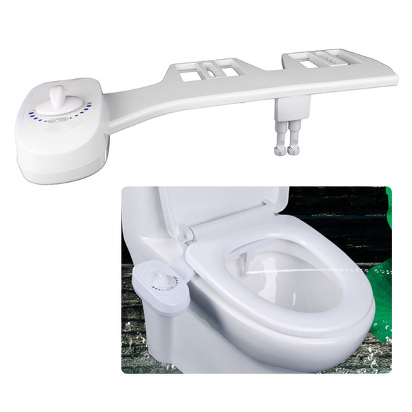 Dual Nozzles Fresh Water Spray Non Electric Mechanical Bidet Toilet Seat Attachment For Self Cleaning Abs Diy Easy Install Wish