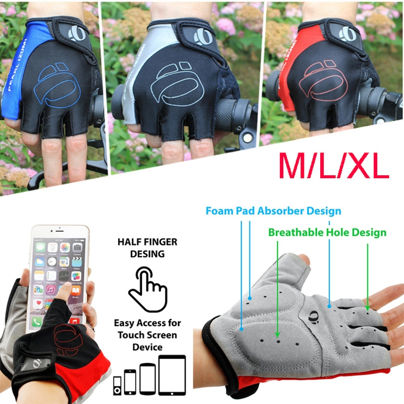 Cycling Bike Bicycle Motorcycle Shockproof Foam Padded Outdoor Sports Half Finger Short Riding Biking Glove Working Gloves