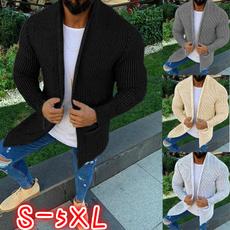 Plus Size, knittedjacket, Sleeve, sweater coat