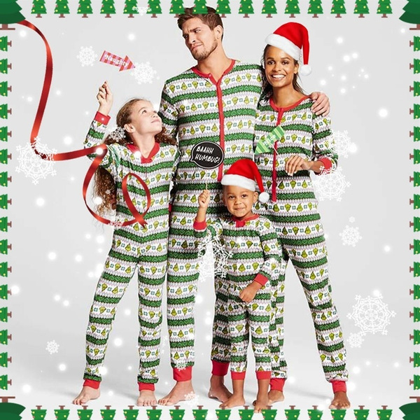 Christmas Family Pajamas Set.Children Adult Christmas Family Pajamas Set Christmas Clothes Parent Child Suit Home Striped Pajamas Baby Family Matching Family Clothing