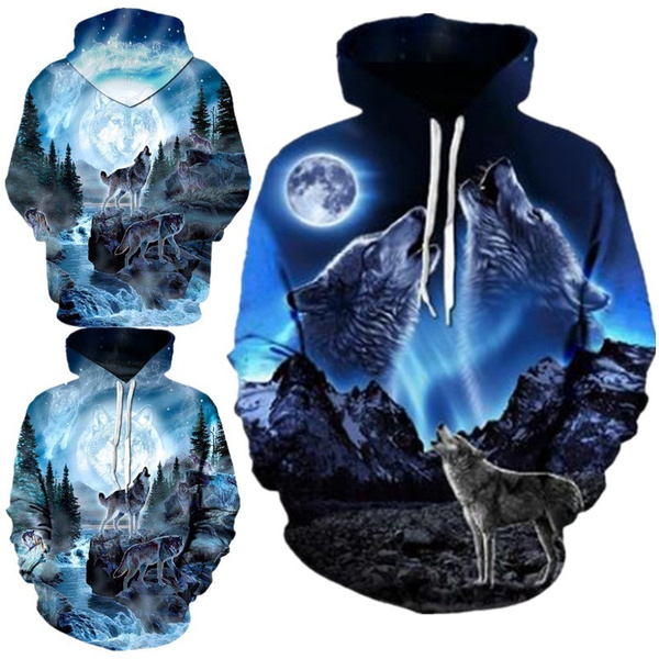 Fashion Fish Series Hooded Sweatshirt Casual 3D Pullover