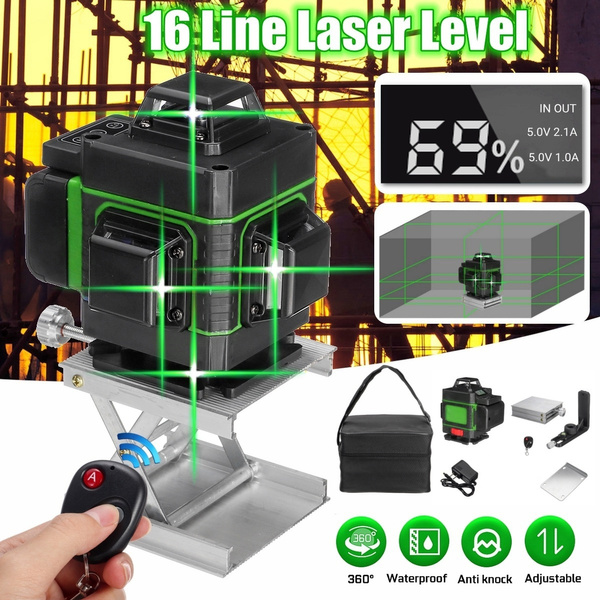 Light Laser Level Green 12Line 360° Self-Leveling Indoor Outdoor Measuring Tool