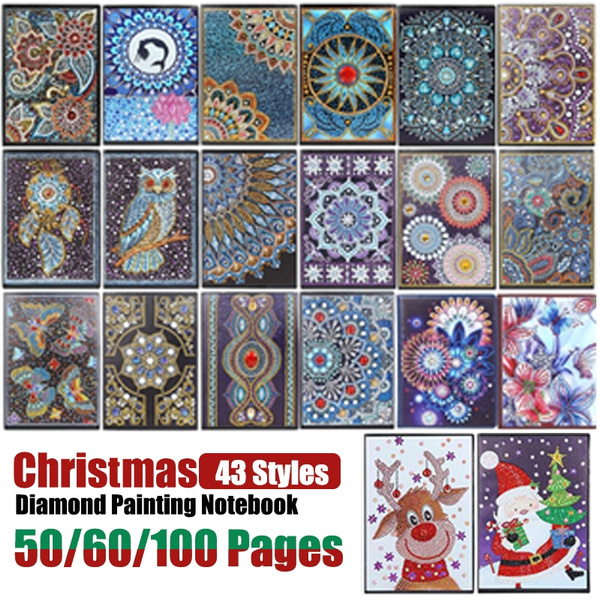 64 Styles 50 60 100 Pages Students A5 Notebook Diy Diamond