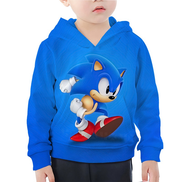 Casual Game Sonic The Hedgehog Kid Blue Hoodies 3d Print Popular Youth Toddler Comfortable Children Clothes Wish