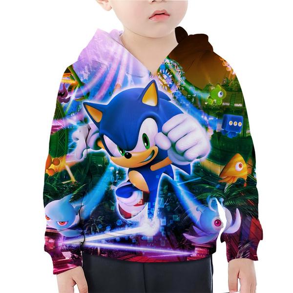 Cartoon Game Sonic The Hedgehog Hoodie Boy Girl 3d Print Long Sleeve Toddler Youth Children Tops Wish