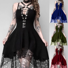 GOTHIC DRESS, Plus Size, gothic lolita, witchdre