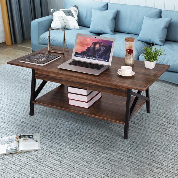 Furniture Rectangular Coffee Table Modern Minimalist Two Story