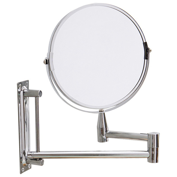 Bathroom Mirror Magnification Double Sided Wall Mounted Vanity Magnifying Swivel Extendable