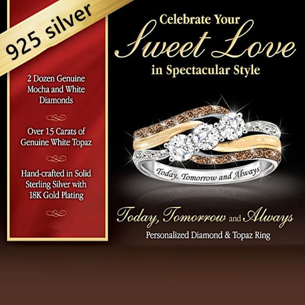 Sterling, Fashion, Bridal, 925 silver rings