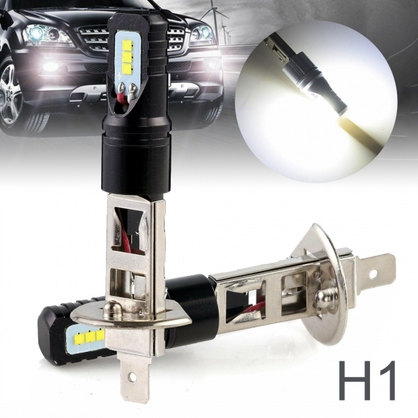 New Nighteye H1 160W LED Fog Light Bulbs Car Driving Lamp DRL 6500K White