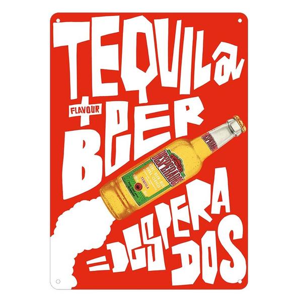 Desperados Tequila Beer Tin Sign Home Bar Pub Garage Stickers Decor Retro Wish