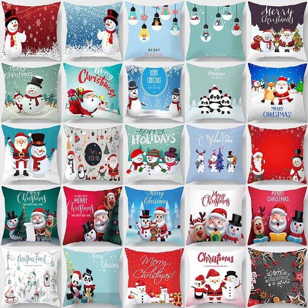 case, christmaspillowcase, Home Decor, sofacushioncover