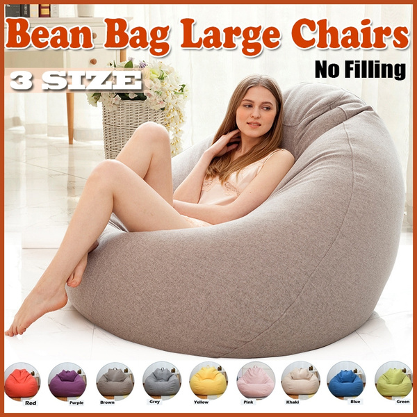 Stupendous New Upgrade Large Bean Bag Sofa Cover Lounger Chair Sofa Seat Living Room Furniture Without Filler Beanbag Sofa Bed Pouf Puff Couch Lazy Tatami No Andrewgaddart Wooden Chair Designs For Living Room Andrewgaddartcom