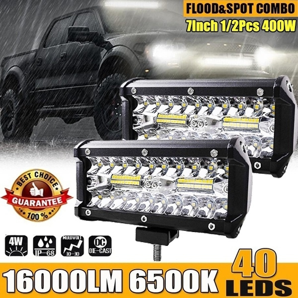 7 Inch 200W Car LED Work Light Bar Spot Flood Beams Combo For Offroad SUV Truck