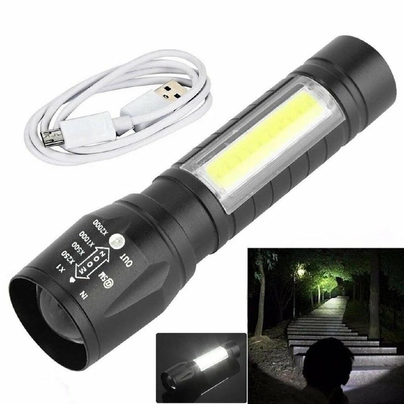 DEL COB Projecteur Phare Tête Lampe Torche Lampe de poche portable