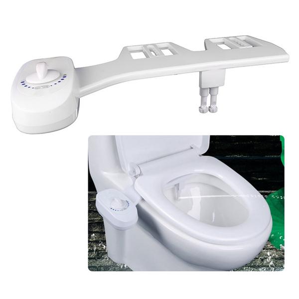 Brilliant Dual Nozzles Fresh Water Spray Non Electric Mechanical Bidet Toilet Seat Attachment For Self Cleaning Abs Diy Easy Install Inzonedesignstudio Interior Chair Design Inzonedesignstudiocom