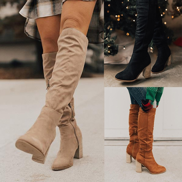 Zip, Knee High Boots, overtheknee, Mode pour femme