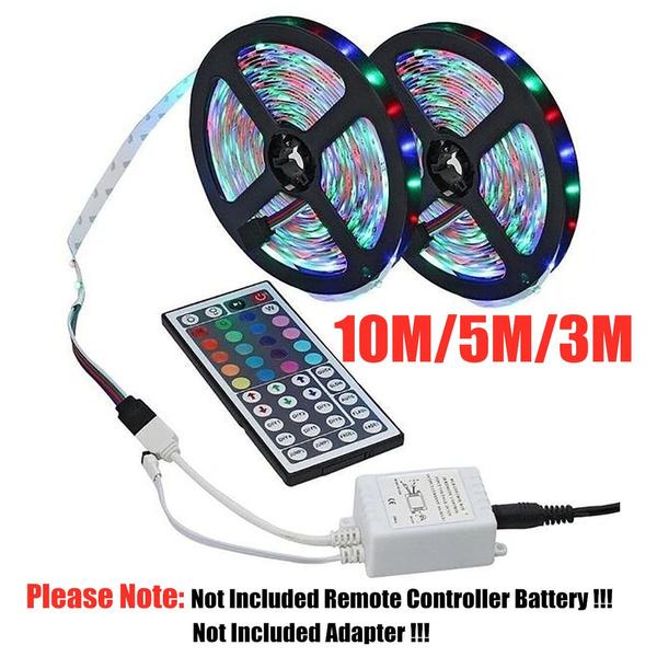 10M 3528 SMD RGB 600 LED Strip light string tape+44 Key IR Remote+Power Adapter