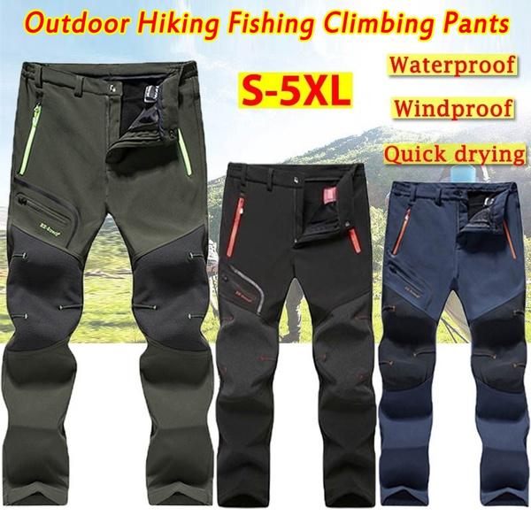 Men/'s Outdoor Waterproof Hiking Cargo Soft shell Long Pants Warm Casual Trousers