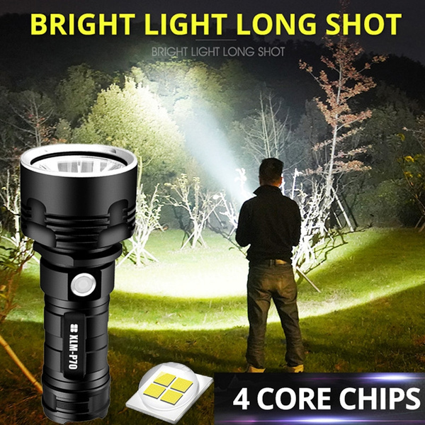 LED Flashlight XHP50 Torch USB Rechargeable Waterproof Lamp Ultra Bright