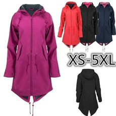 Plus Size, Outdoor, Long Coat, Coat