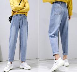 womens jeans, harem, trousers, Elastic