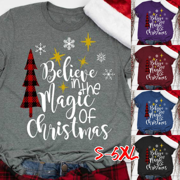 Plus Size, Magic, Christmas, graphic tee