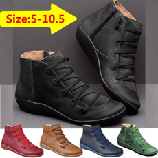 ankle boots, vintageboot, Plus Size, Leather Boots