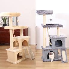 cathouse, perch, Ball, catclimbingframe