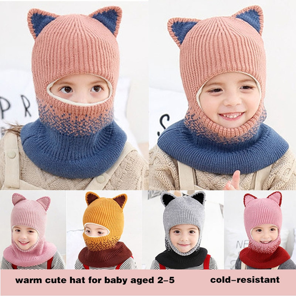 Pink Cute Winter Warm Scarf For 5 months to 6 year-old Baby girls