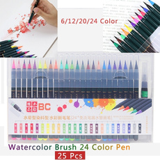 watercolorbrushpenset, art, colorfulpen, paintingpenbrush