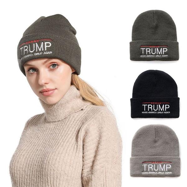 Donald Trump 2020 Beanie Hat Make America Great Again Knit Beanie Warm Ski Cap