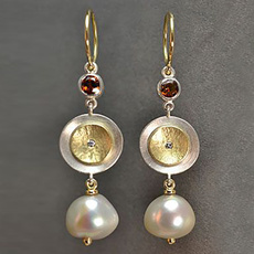Gemstone Earrings, Pearl Earrings, wedding earrings, hookearring