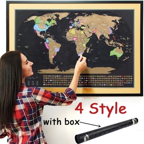 worldmap, worldmapposter, scratchoffworldmap, Travel