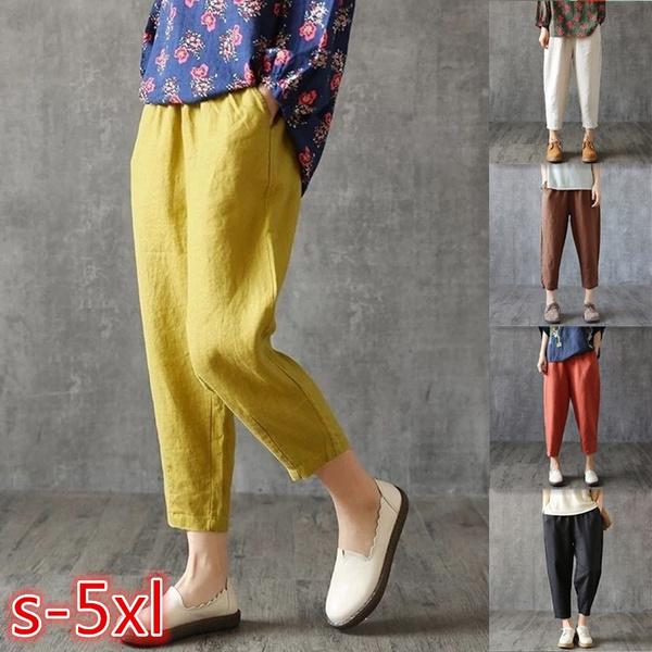 Fashion, pants, Loose, Large