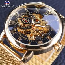 Men, Luxury, relógioouro, gold
