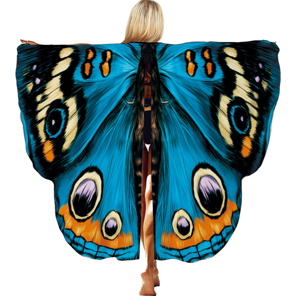 Halloween Party Soft Fabric Butterfly Wings Shawl Fairy Ladies Nymph